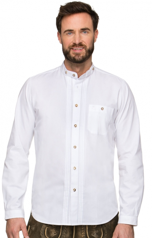 German traditional shirt LEON white