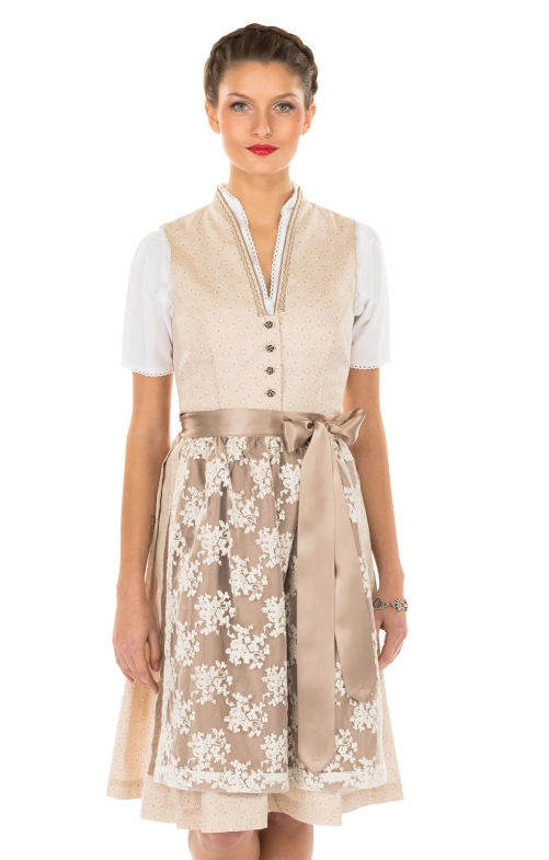 Minidirndl 2pcs. 58 cm Bronja brown