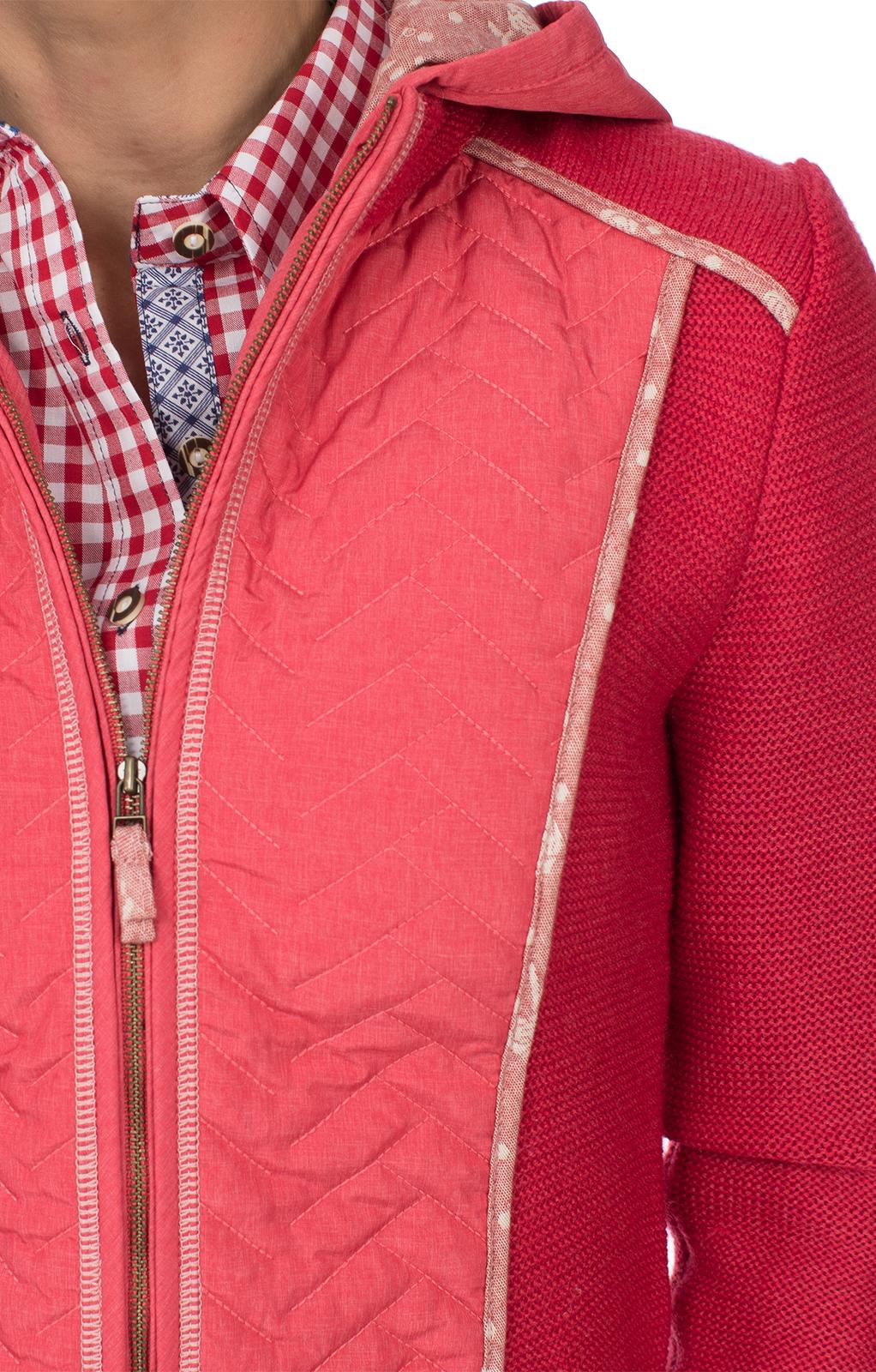 weitere Bilder von Trachten Outdoorjacke HAMELN Walk/Stepp Kapuze rot