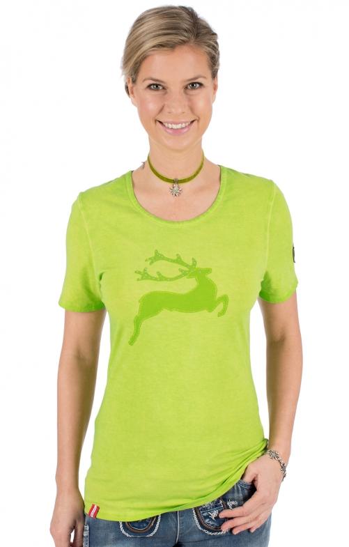 Trachten T-Shirt WALLERALM hellgrün