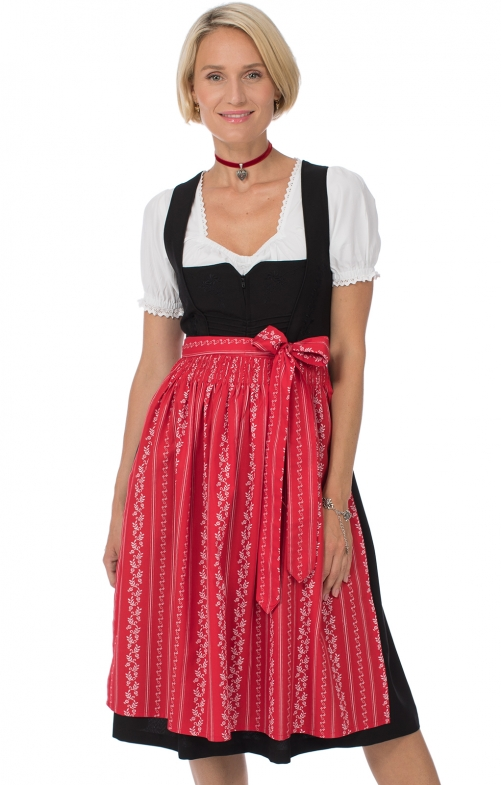 Dirndl Midi 70cm 1pcs. Amber-2 SC195 black red