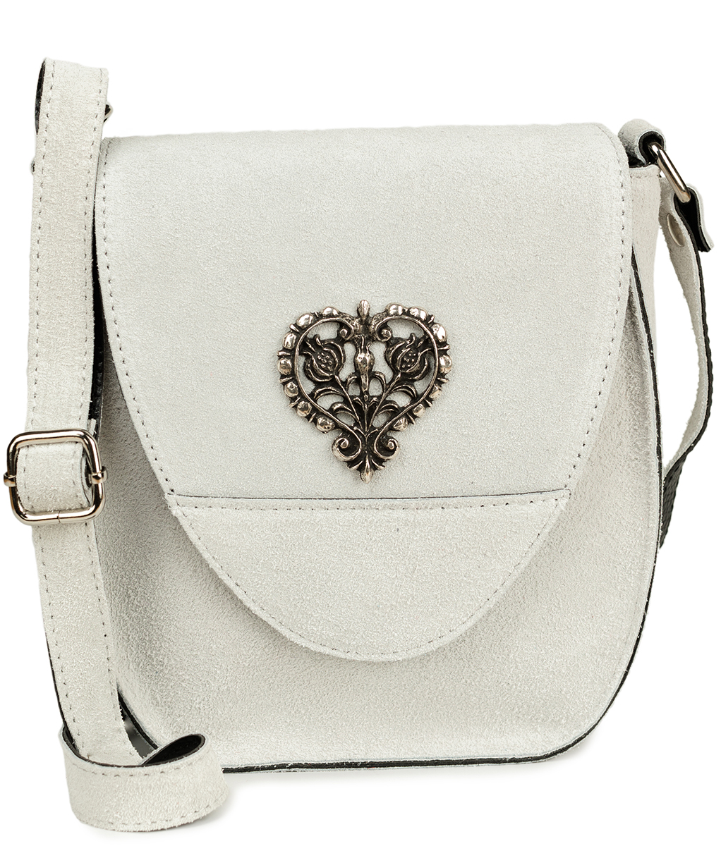 Traditional leather bag with heart TA30410-8525 white von Schuhmacher