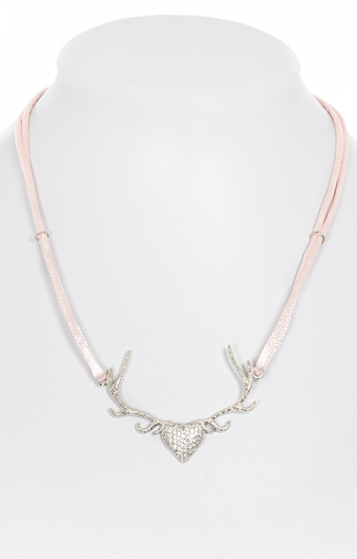 Traditional necklace 71604-33 pink