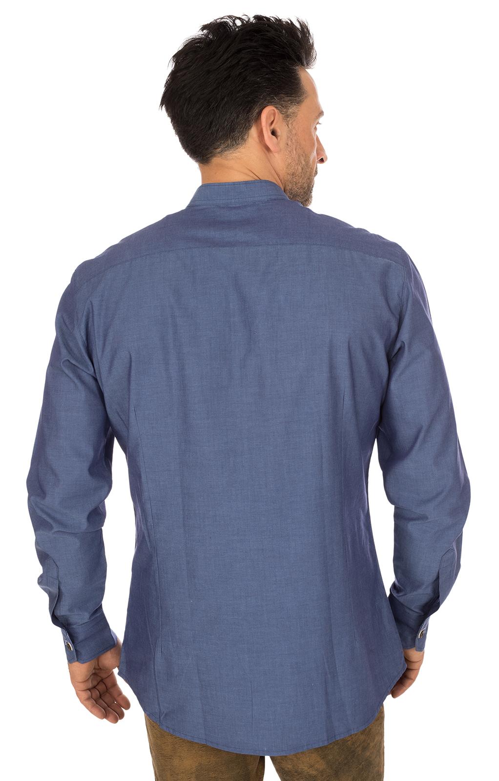 weitere Bilder von Trachtenhemd FERRY Stehkragen jeansblau