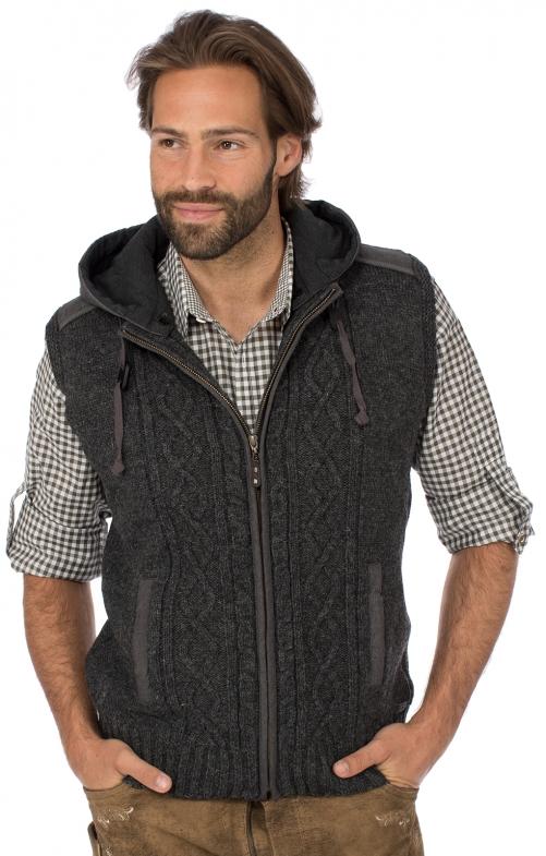 Traditional vest HAINBURG Hoodie dark gray