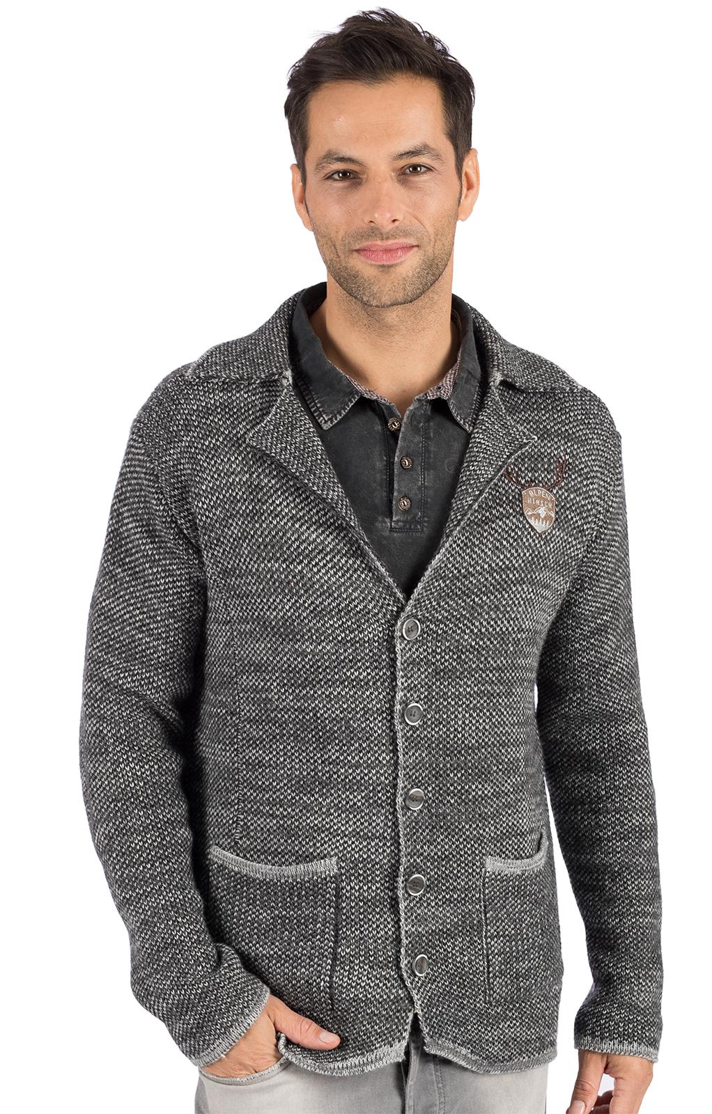 Tradizionale giacca a maglia OLAF grigio von Hangowear