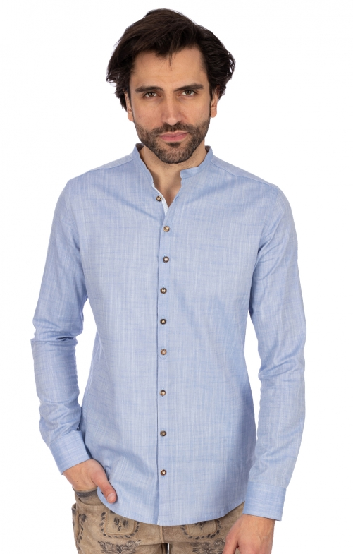 Stehkragenhemd 420000-3889-42 blau