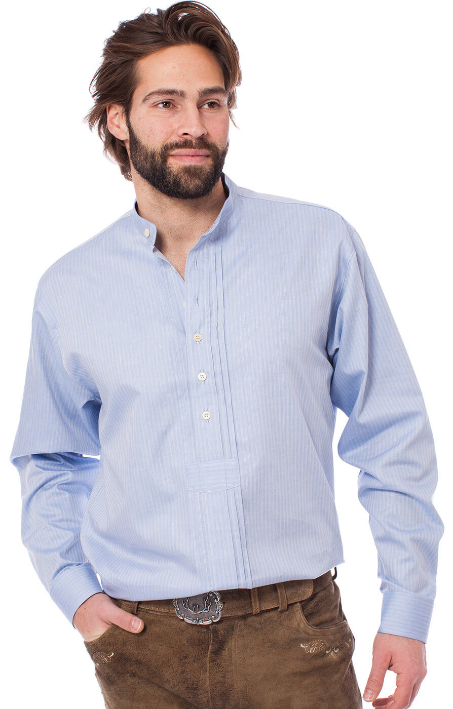 German traditional shirt 920001-3485-41 lightblue von OS-Trachten