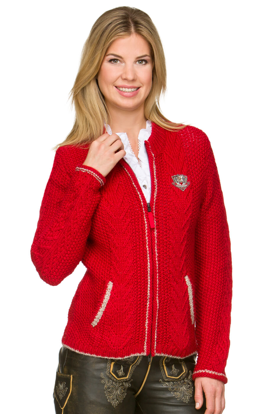 Strickjacke Adina rot von Stockerpoint