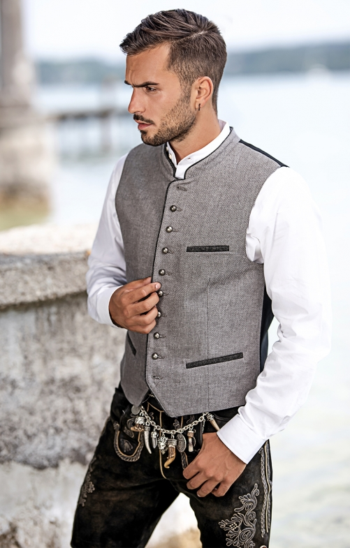 Traditional waistcoat AGAN anthracite