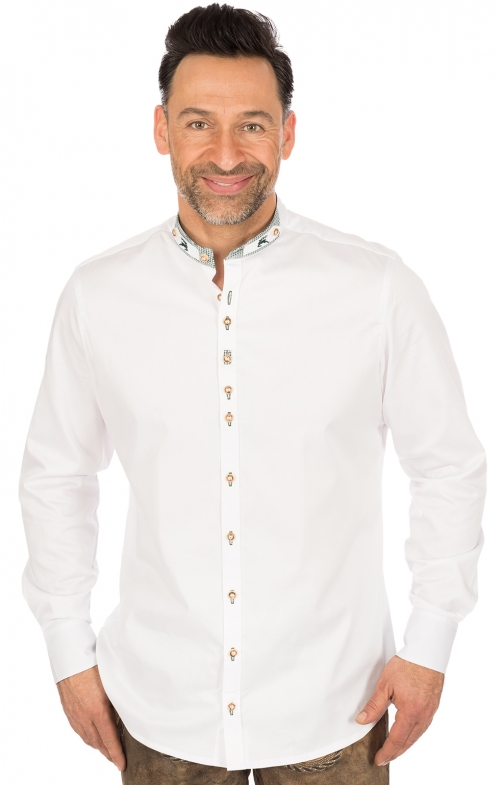 German traditional shirt Slim fit PERINO white