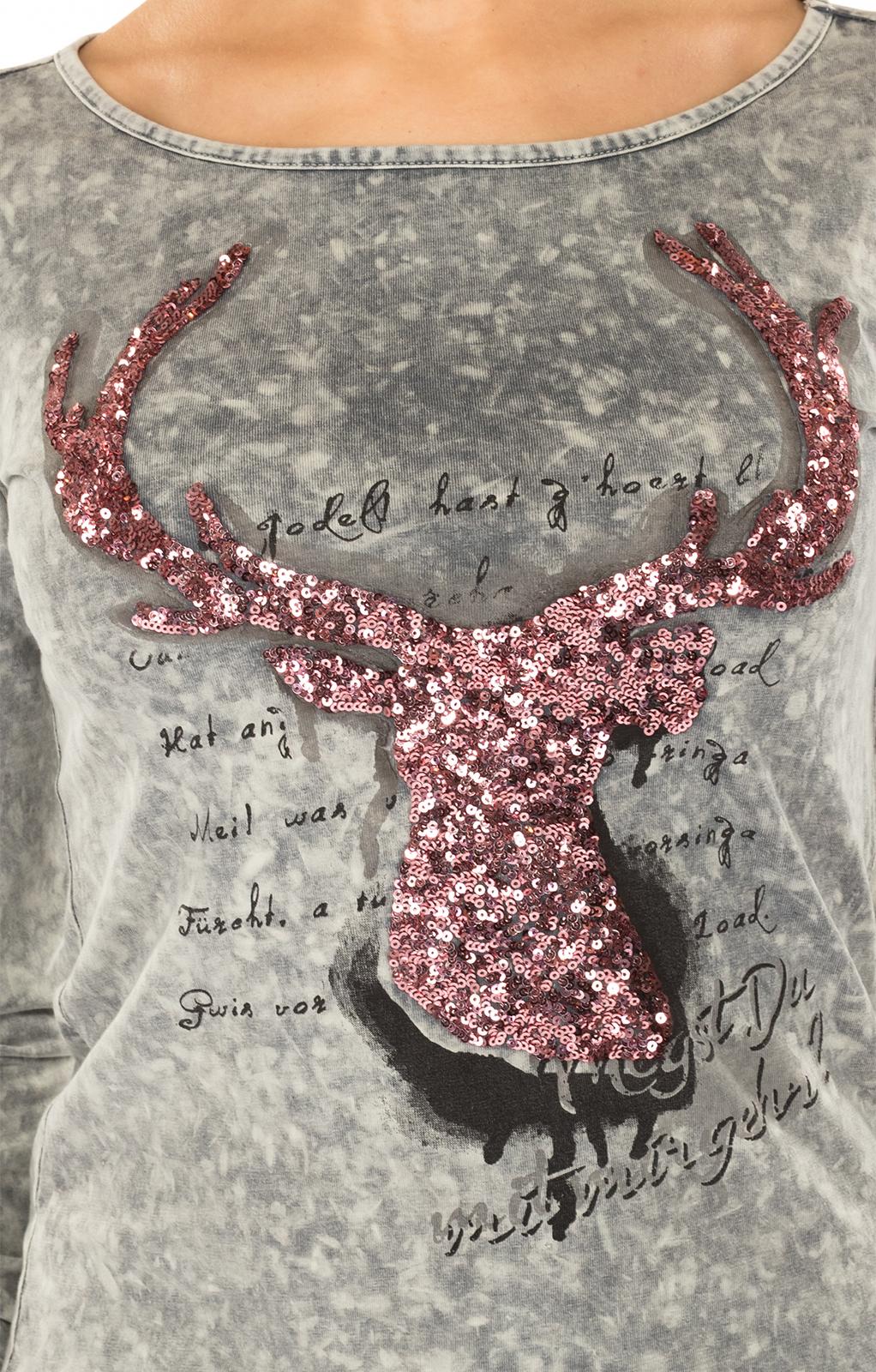 weitere Bilder von Trachten T-Shirt HANNA grau