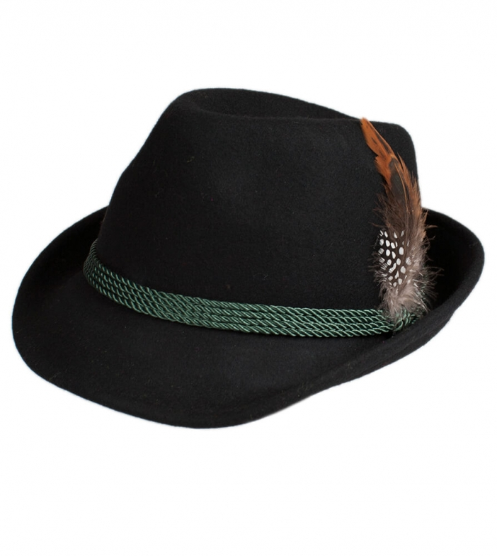 Costume hat HT750 with feather black