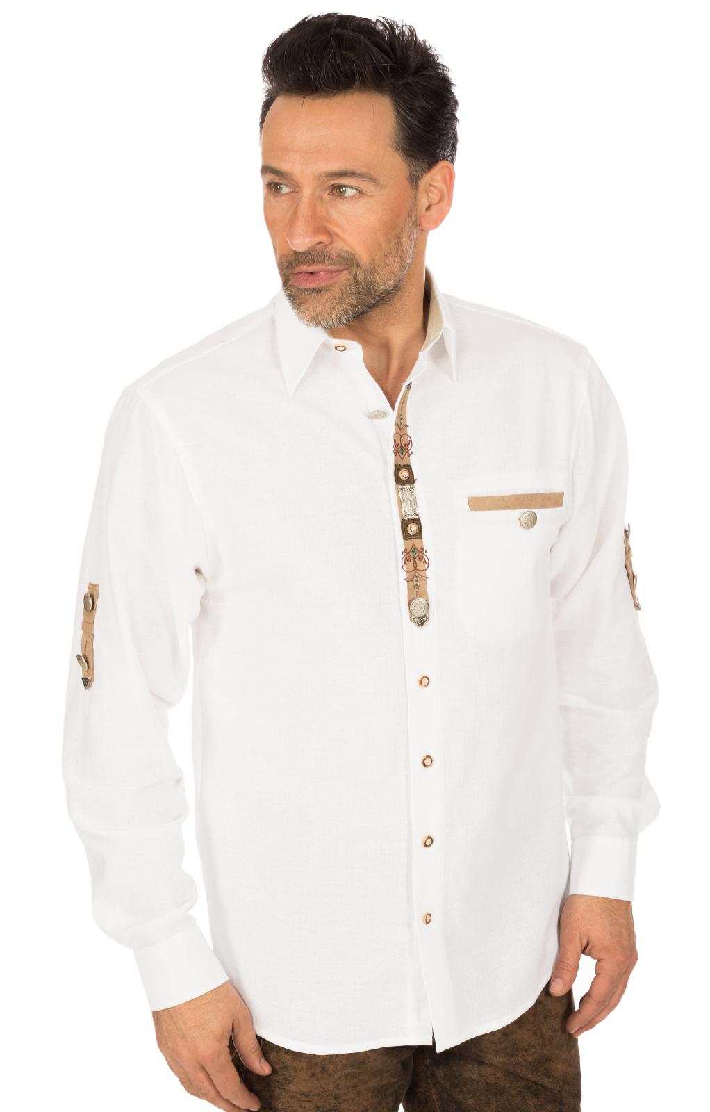 Camicia per Trachten EDGAR bianco von OS-Trachten