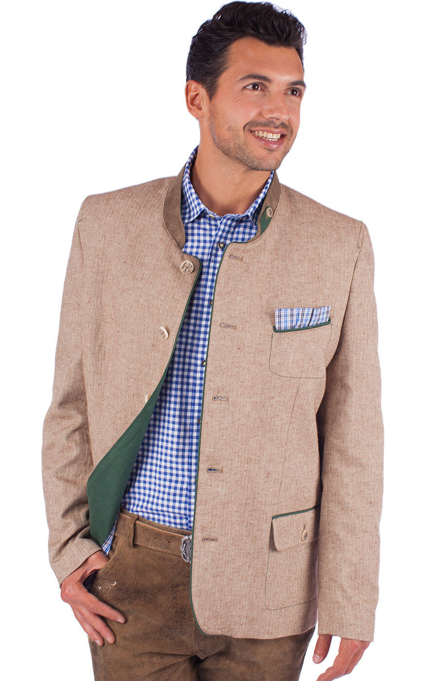 German traditional jacket WEISSHORN beige von OS-Trachten