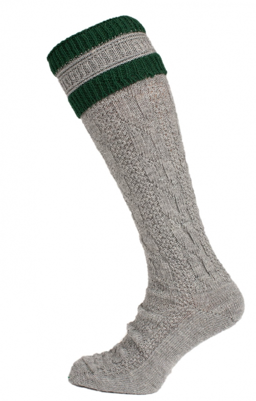 Traditional knee socks CS583 gray green