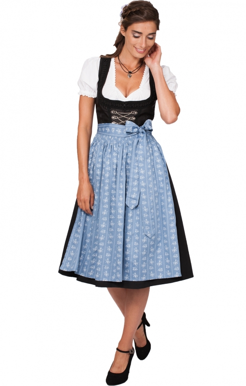Mididirndl 1 pcs. 70 cm SANDY2 SC195 smoke blue