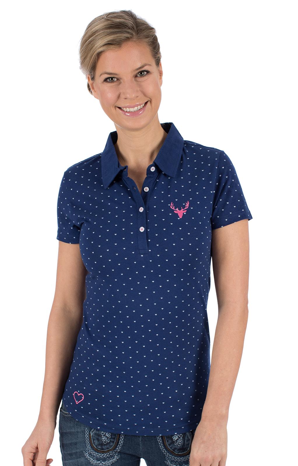 Trachten T-Shirt RUTH blau von Hangowear