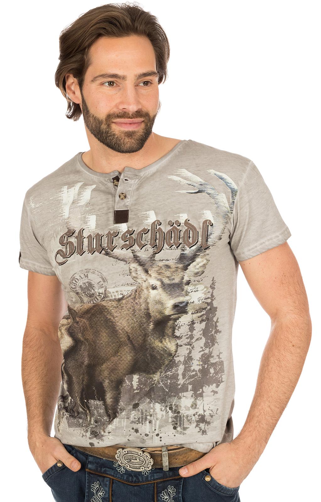 Trachten T-Shirt M28 STURSCHÄDL grau von Marjo