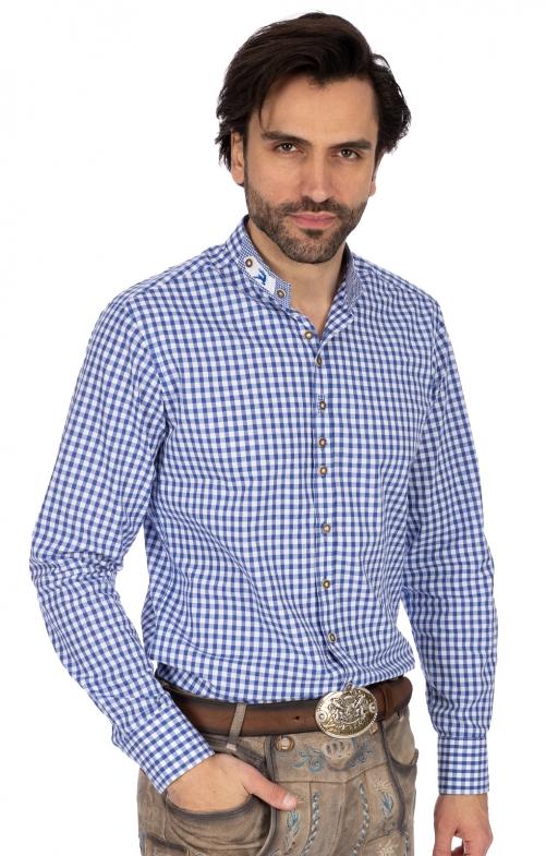 Stehkragenhemd DORIAN blau