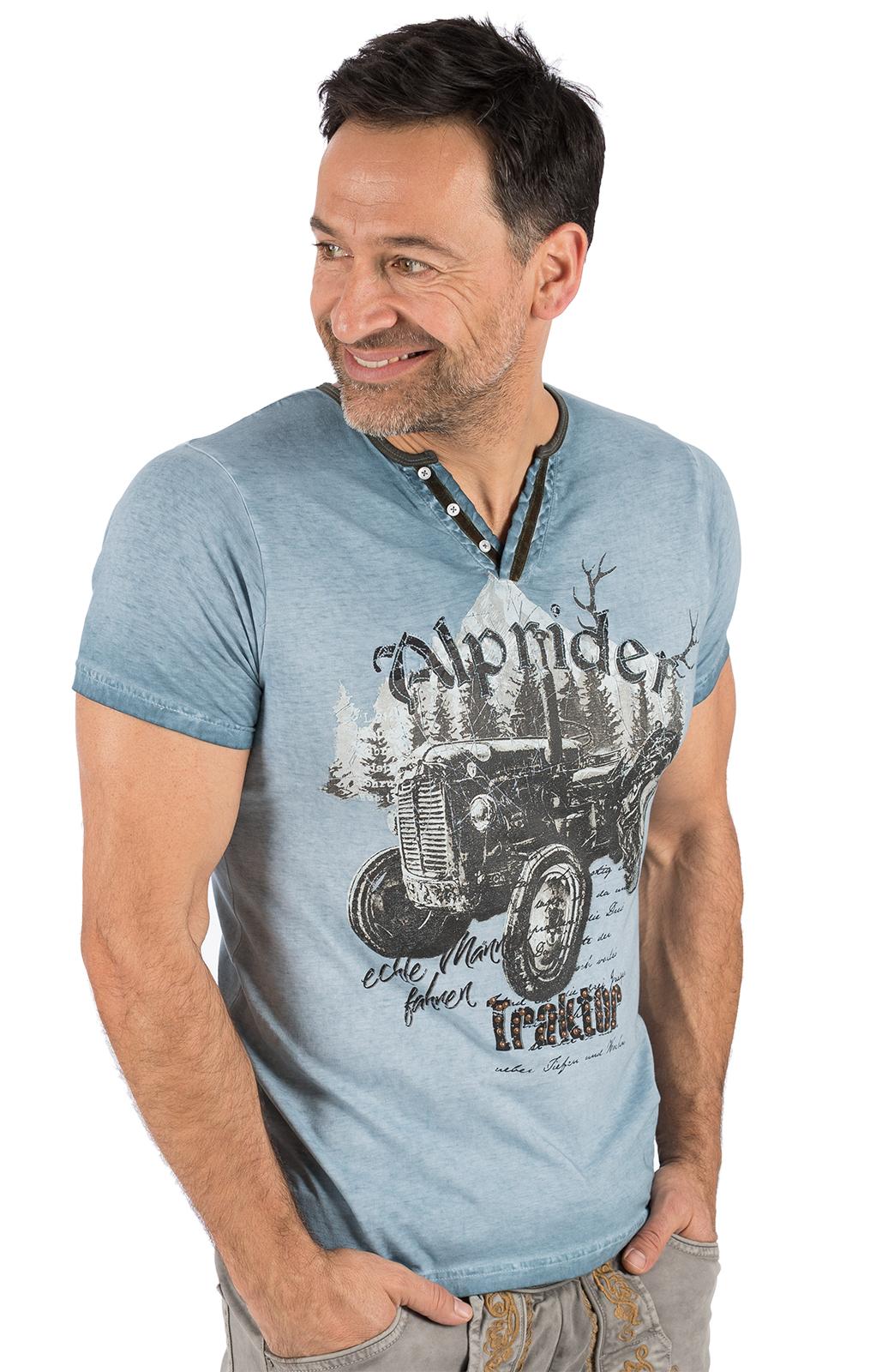 weitere Bilder von Trachten T-Shirt E15 - ALPRIDER blau