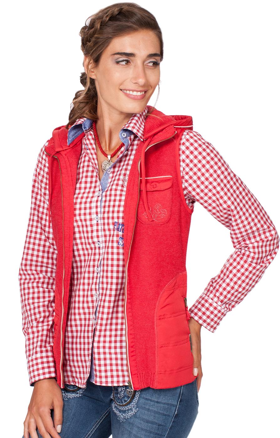 weitere Bilder von Traditional waistcoat Flintbeck red pink