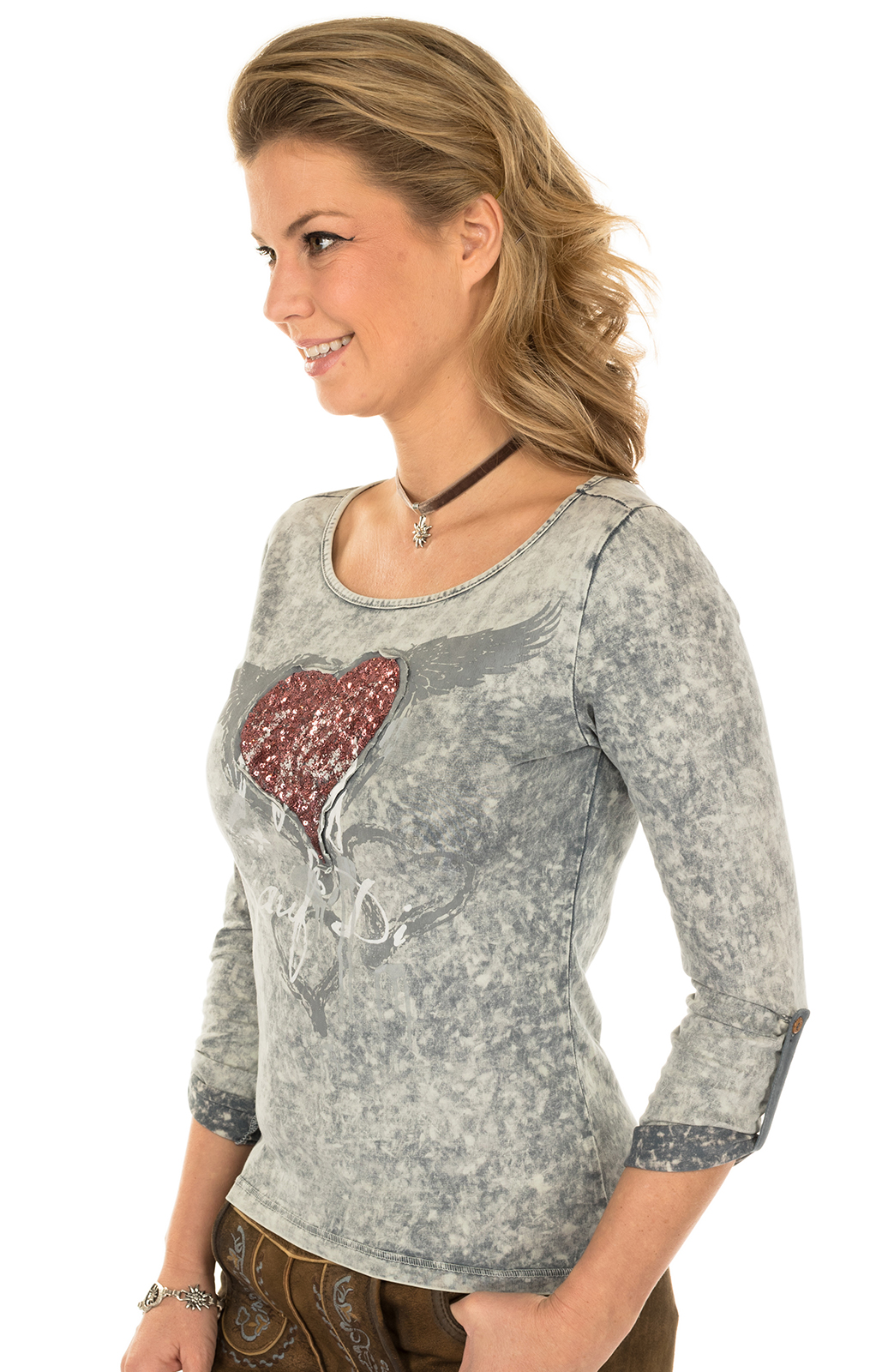 weitere Bilder von Trachten Shirt K30-FLIAGA gray