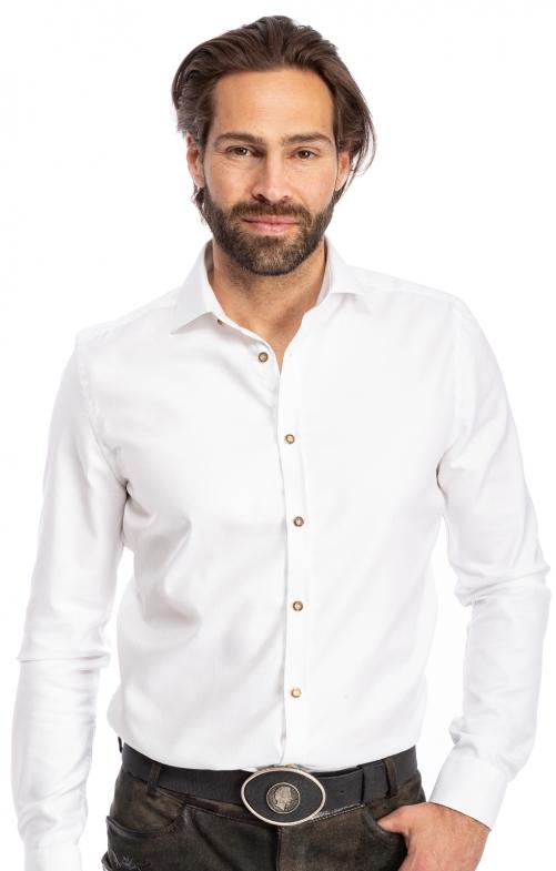 Tiroler overhemden 1/1 BF 420000-3829-1 wit