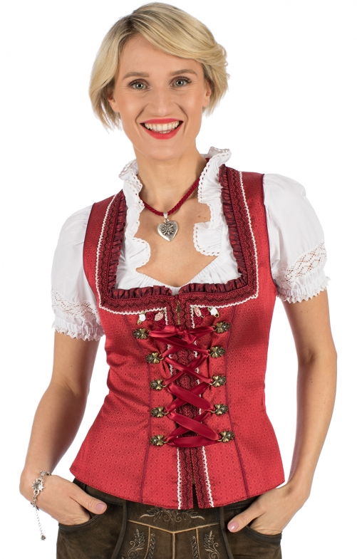 Traditional dirndl corsage ROTER TRAUM red