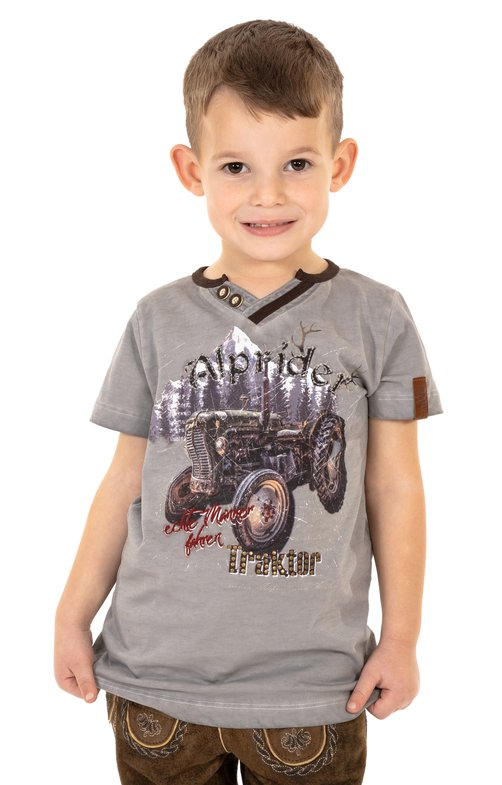 T-Shirt Trachten Bambini E15 - KLAAS-KIDS grigio