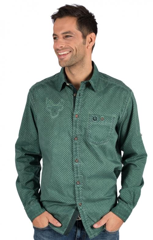 Trachtenhemd Langarm KONSTANTIN grün