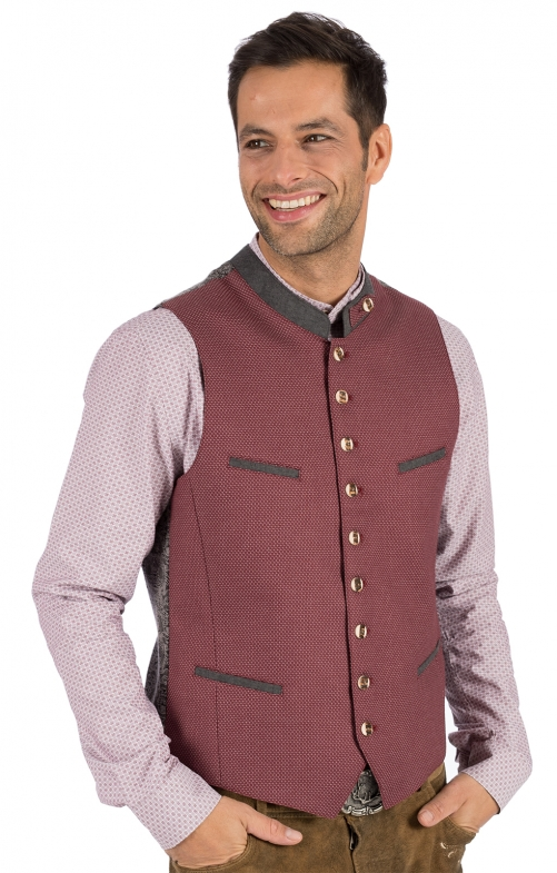 Traditional waistcoat LASSE red
