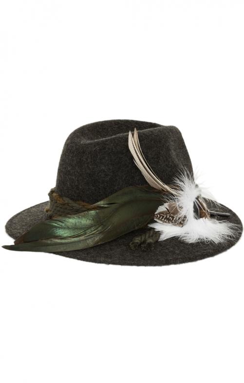Bavarian oktoberfest hat 1013-D200 anthracite