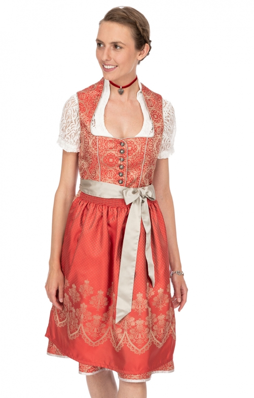 Mididirndl 2pcs. 65 cm ANTONIA red
