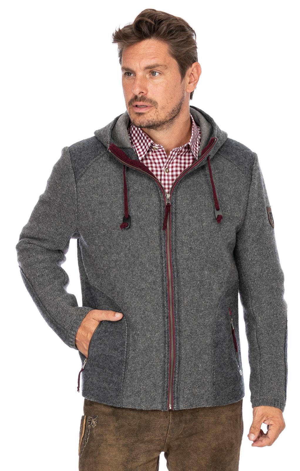 German traditional jacket MARBURG medium gray von Spieth & Wensky