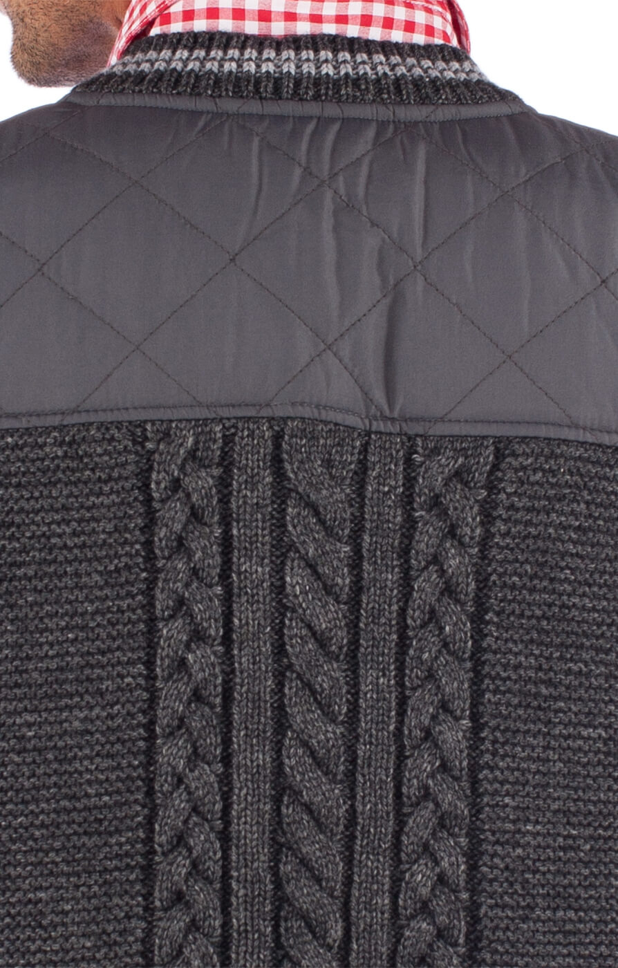 weitere Bilder von German knitted waistcoat EDINBURGH dark gray
