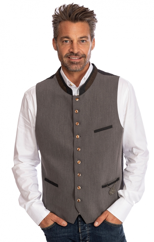 Traditional waistcoat STAFFELBERG gray