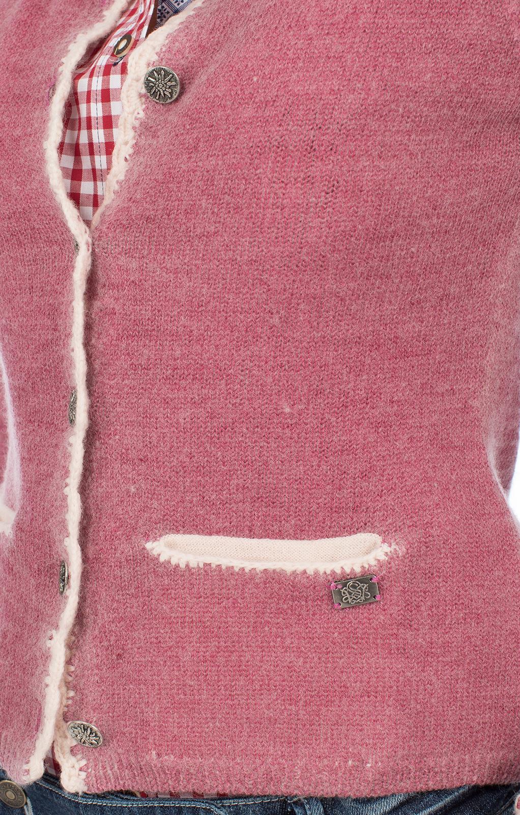 weitere Bilder von Trachtenstrickjacke HORGAU Hirschmotiv pink