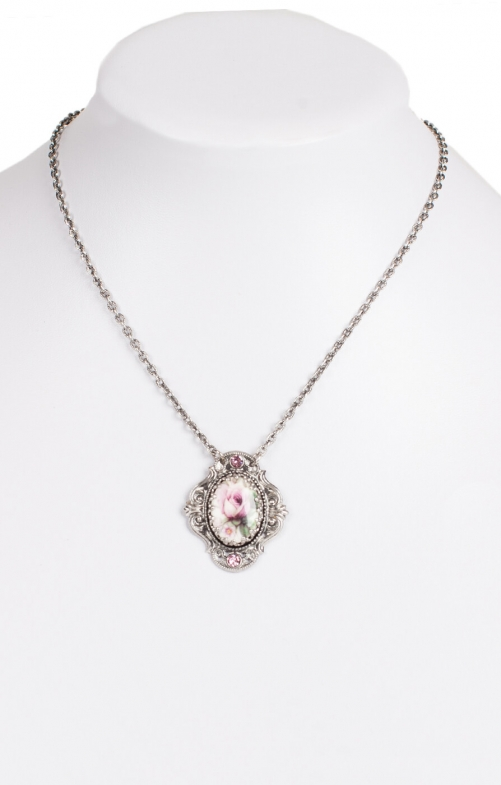Collier with Swarovski H1653-1, rose