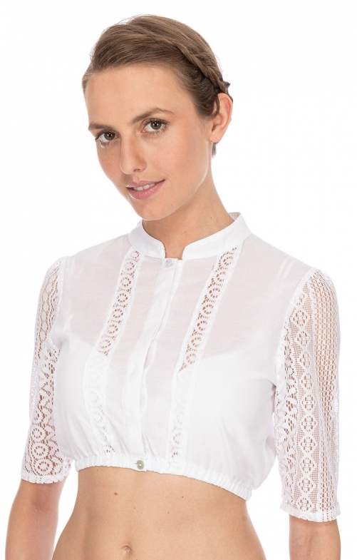 Traditional dirndl blouse B8065 white