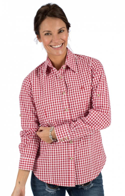 Traditional blouse CHECKERED red