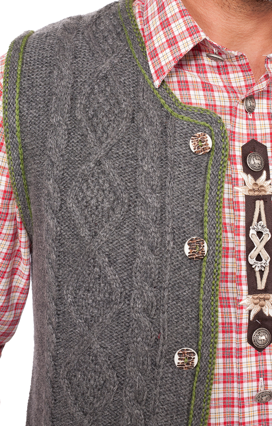weitere Bilder von German knitted waistcoat ERMELO middle gray