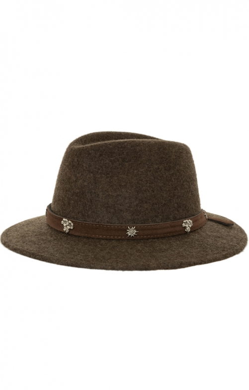 Bavarian oktoberfest hat 1013-657A brown