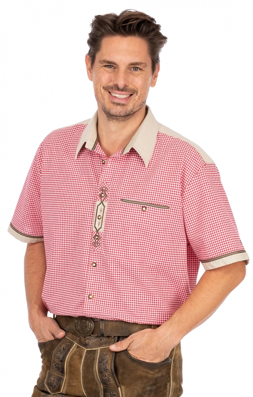 German traditional shirt DOMINIC red