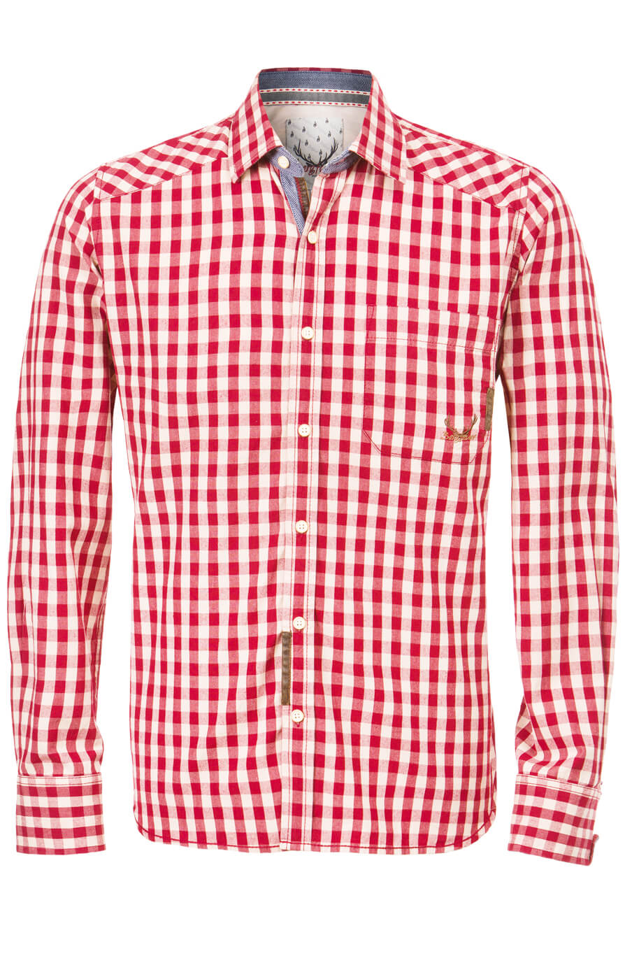 weitere Bilder von German traditional shirt Tom darkred