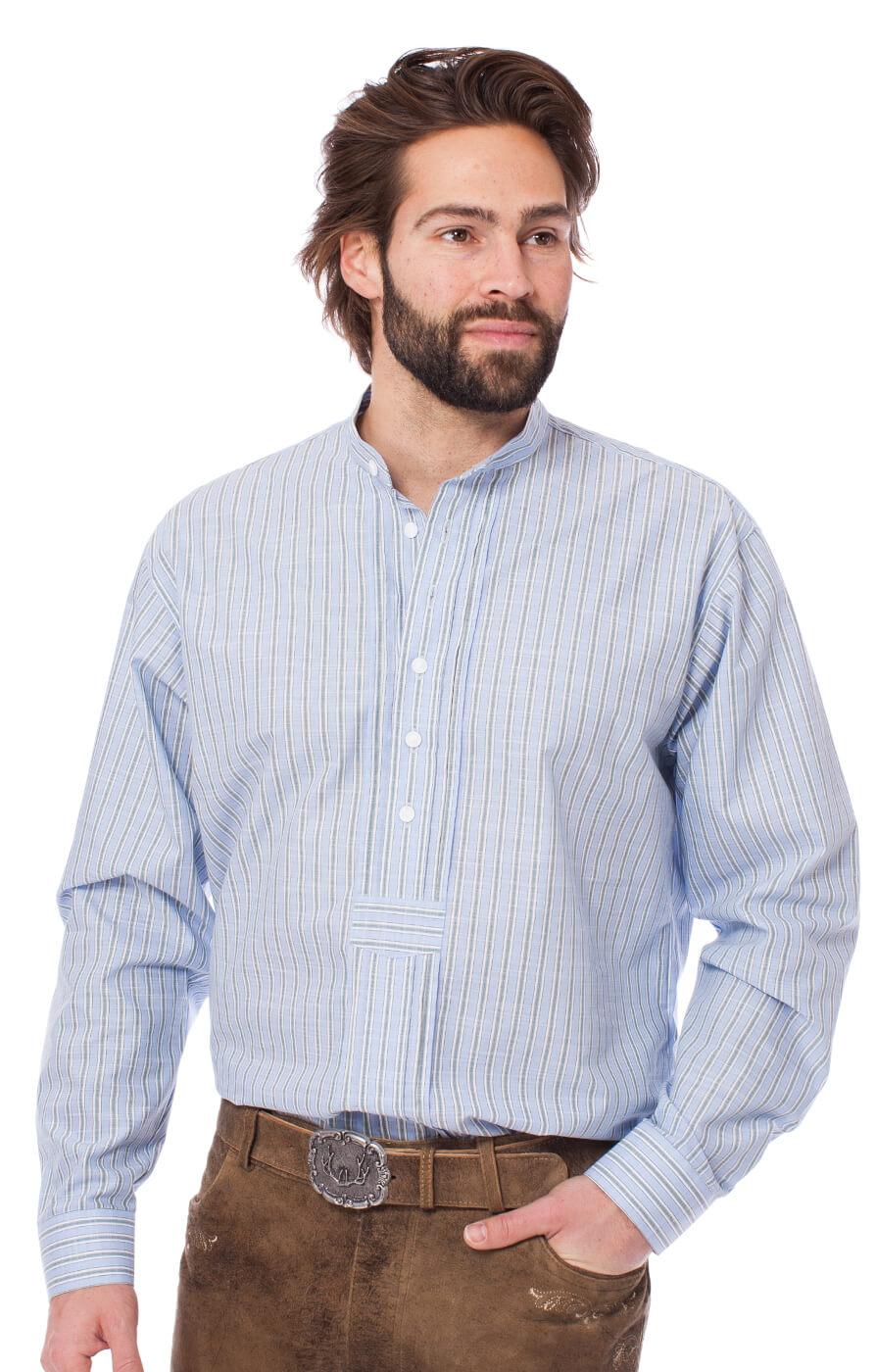 German traditional shirt 920001-3494-41 lightblue von OS-Trachten