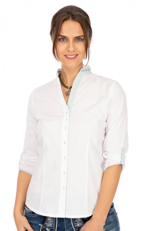 Bluse 450009-3565-143 weiß mint
