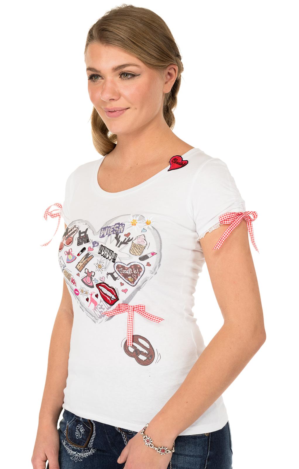 weitere Bilder von Trachten T-Shirt HAPPY weiss
