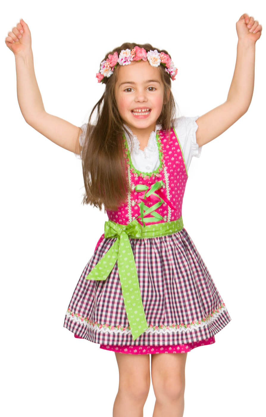 Traditional Children dirndl Edita pink von Stockerpoint