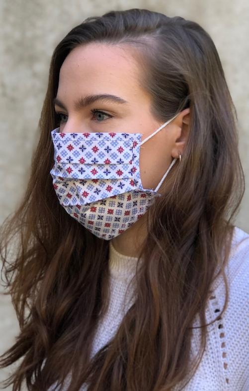 Face mask 3724-34 medium red